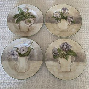 American Atelier at Home Floral Bouquet Plates~4